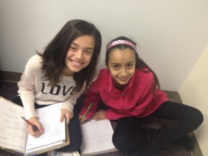 Working with friends makes school fun!!